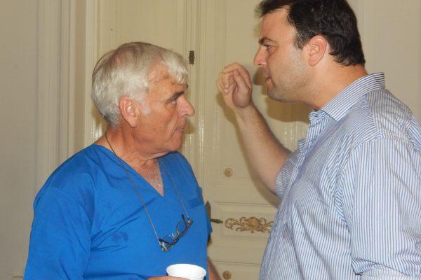 Primer encontronaso entre Barroso ya como intendente y Battistella en fu funcion como medico de un CAPS en diciembre 2015