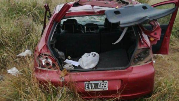 Automovil siniestrado en el que fallecio el hombre de Gral. Viamonte – foto El Regional Digital