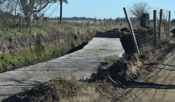 El conducto de hormigon que fue construido
