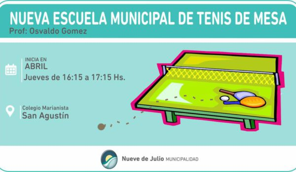 Escuela Municipal de Tenis de Mesa