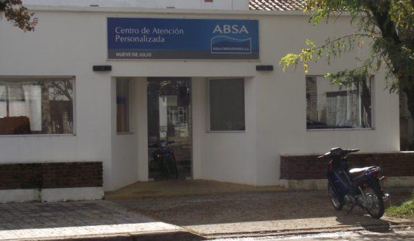 Frente de la sede de ABSA 9 de Julio victima de un robo en esta madrugada