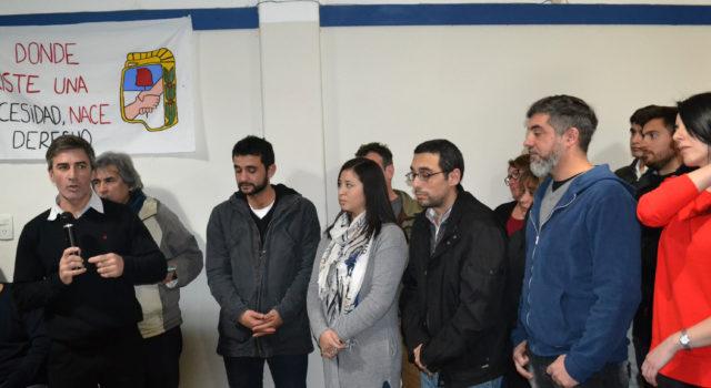Guillermo Rodriguez durante la presentación de su lista
