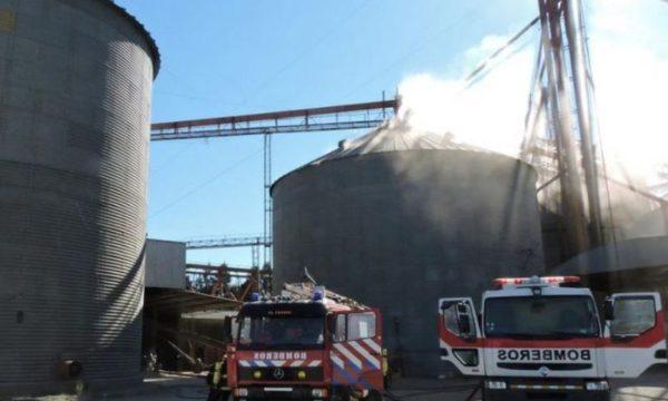 Planta de silos de la cooperativa de AFA que sufrio la explosion