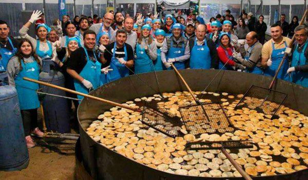 Se cocinaron 13 mil tortas fritas