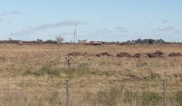 Terreno donde se construye el Parque de energia Solar en Facundo Quiroga