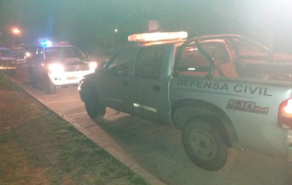 Intervinieron Bomberos, Defensa Civil, Policia y Desarrollo Social de Municipalidad de 9 de Julio