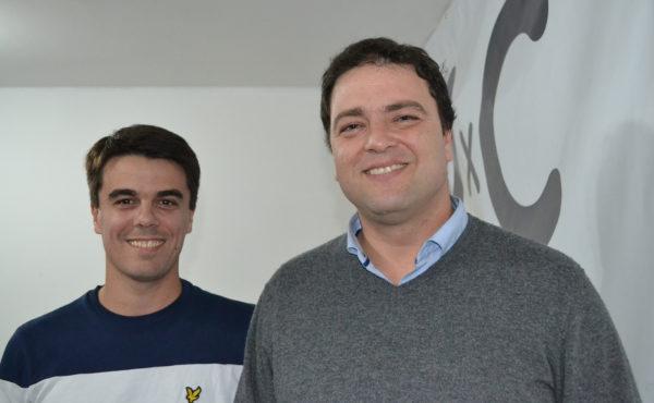 Mariano Barroso junto a Paolo Barbieri candidato a Concejal por Juntos por el Cambio