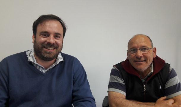 Matias Losinno y Angel Pastor de la CEyS Mariano Moreno