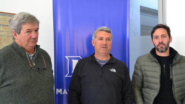 Miguel Errecarret, Raul Daguerre y Andres Potetti