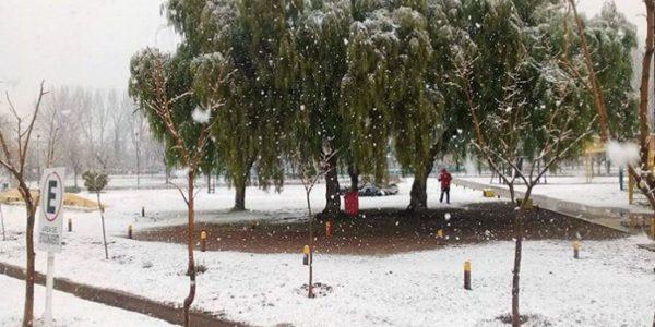 Nieve esta mañana en Santa Rosa, La Pampa