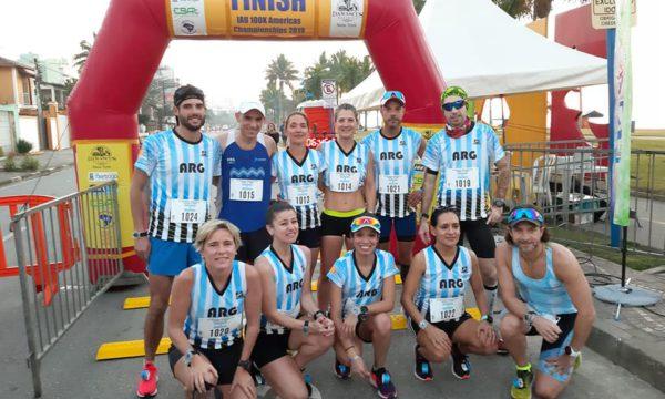 Otra postal del equipo argentino de ultramaraton en tierra carioca