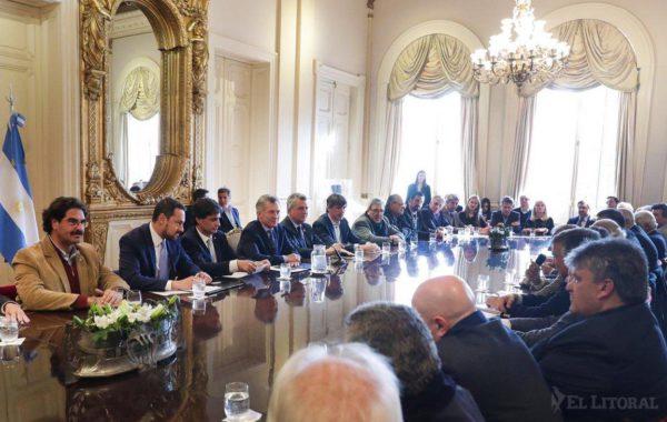 Reunion entre el presidente Macri y la Mesa de Ganados y Carnes