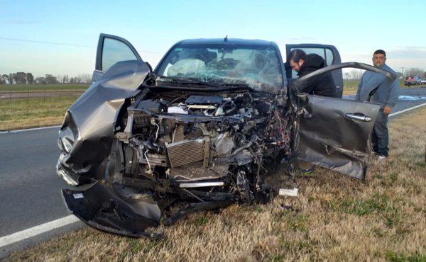 la pickup participante del accidente en el km 285