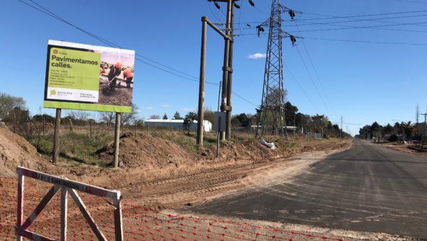 Av Urquiza desde Ag. Alvarez ya luce su pavimento hasta ruta 65, solo resta su pintura