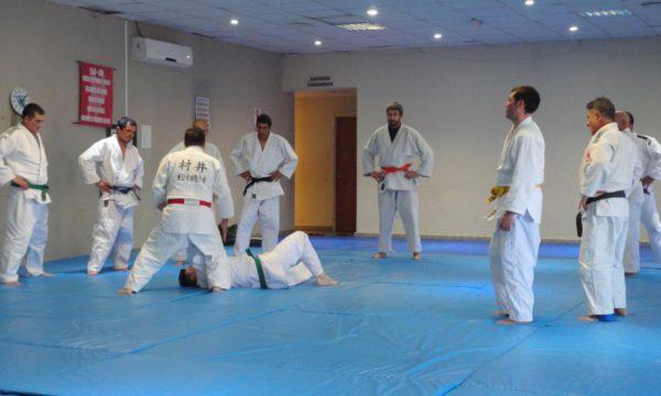 Clase de Judo que se dio en San Martin