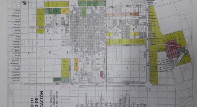 En verde son los espacios que se buscan incorporar como zona urbana al Codigo urbanistico