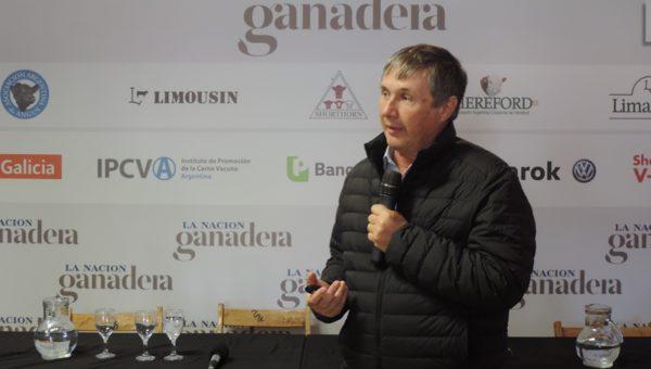 Juan Balbin, presidente de INTA en La Nacion Ganadera – foto INTA