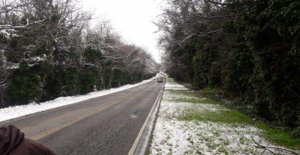 La zona de la comarca de Ventana recibio nieve