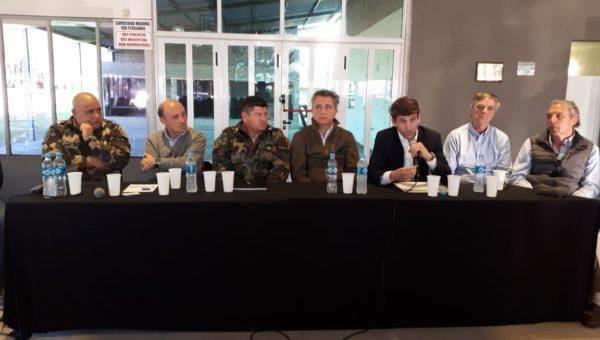 Mesa que presidio la asamblea en Chacabuco