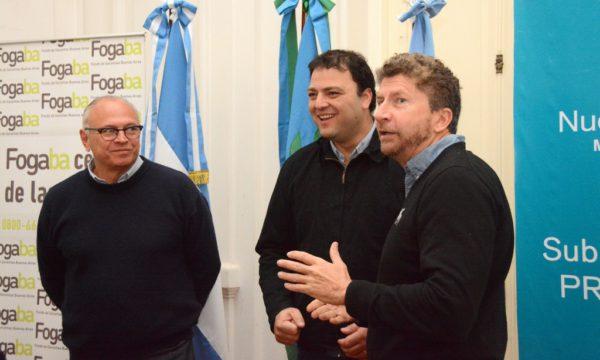 Sammartino, Barroso y Lioi durante la presentacion de la Jornada