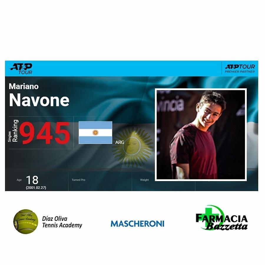 Nuevo escalamiento para Mariano Navone en el Ranking de la ATP