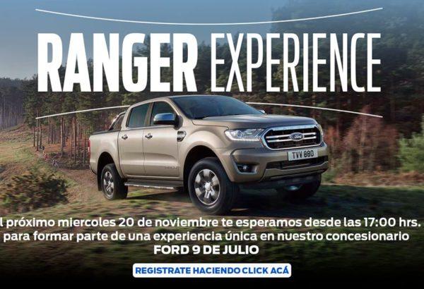 La experiencia Ranger sera el 20 de noviembre en 9 de Julio