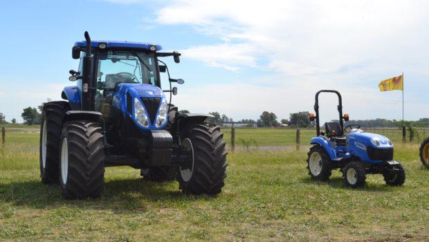 Tractores New Holland que se expusieron en la muestra