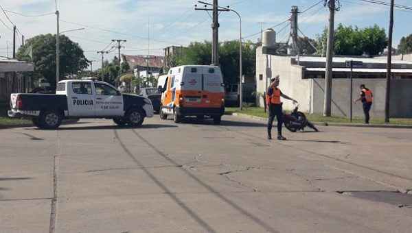 Accidente de calle Mendoza y Urquiza