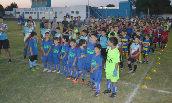 Equipos que integran la edicion 2019 del Baby Futbol en San Martin