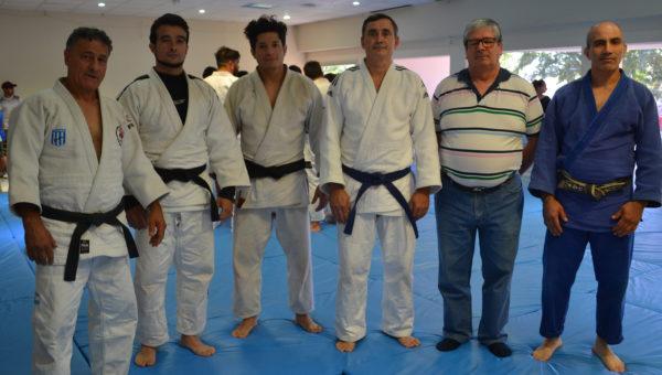 Martin Baztarrica, Santiago Falco y judocas de la region en San Martin