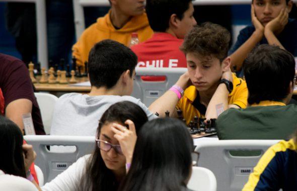 Valentin Heredia durante una de sus partidas