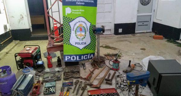 Herramientas secuestradas y robadas en Viamonte y El TEjar