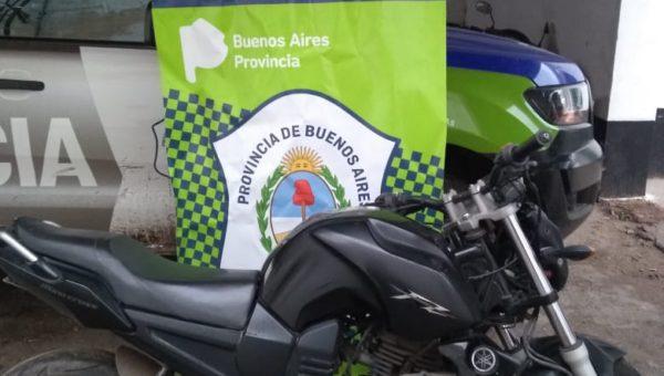 Moto vehiculo secuestrado