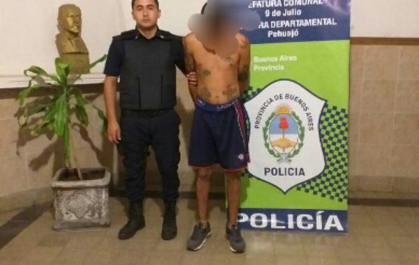 Persona detenida por amenazas