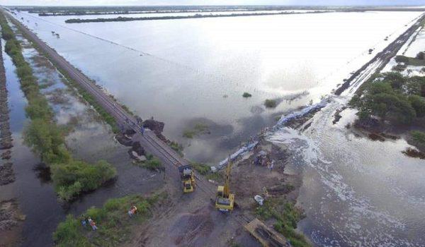Zona de la provincia del Chaco bajo agua