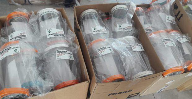 Cobertores faciales que se produjeron en 9 de Julio