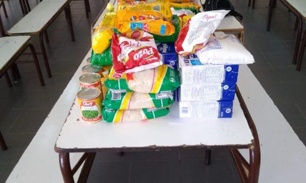 Alimentos que fue entregando el Consejo Escolar