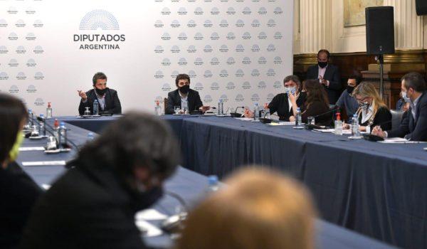 Reunion en Labor Parlamentaria presidida por el presidente de la Camara, Sergio Massa