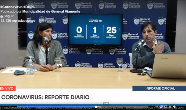 Flexas desde el vivo de facebook del municipio de Viamonte – captura de video