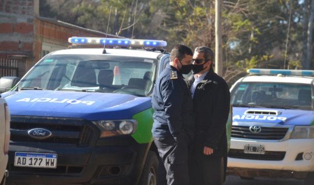 El Ayudante de fiscal y el Jefe de Policia este martes en vedia – foto El Vediense