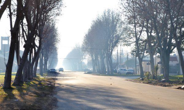 El humo esta mañana sobre Av Compaire en 9 de Julio