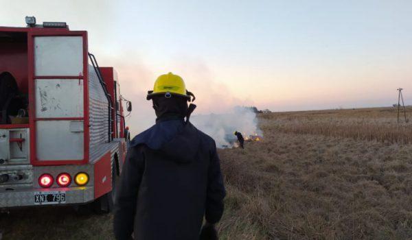 Bomberos Trabajando sobre uno de los incendios esta semana