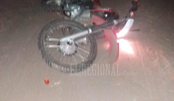 Motocicleta en la que se movilizaba el hombre