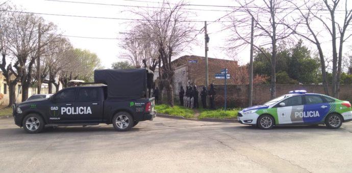 Despliegue policial en cuatro allanamientos