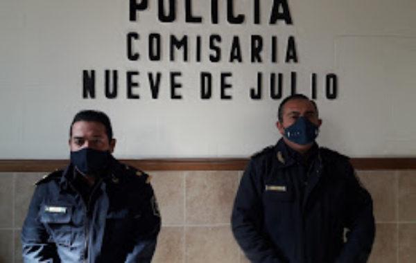 Sub Comisario Sbrissa y Com Inspector Quemehuencho