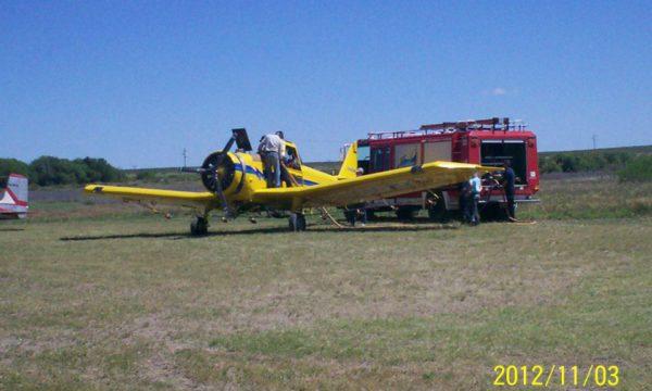 Trabajo entre Bomberos de 9 de Julio y el aero aplicador Jorge Pedreschi