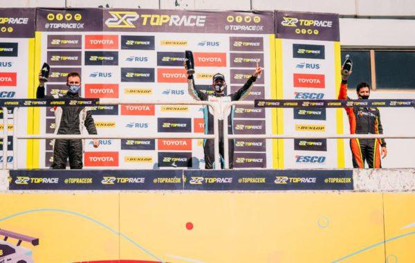Martinez en el podio del sabado – foto Toprace jrs
