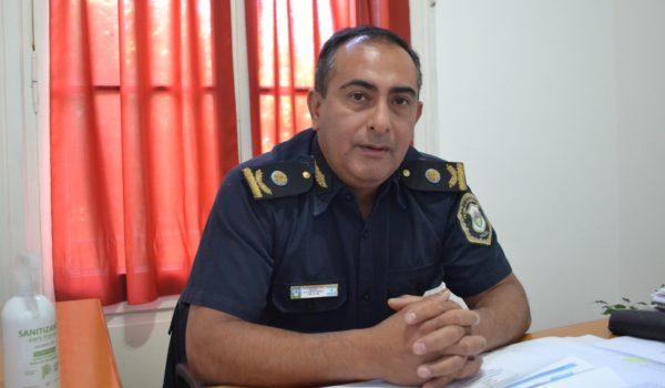 Comisario Inspector Gustavo Quemehuencho, titular de Policia Comunal 9 de Julio