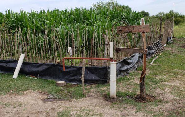 El sistema de extraccion de agua y riego ideado por Rodrigo- foto facebook Diego Capurro