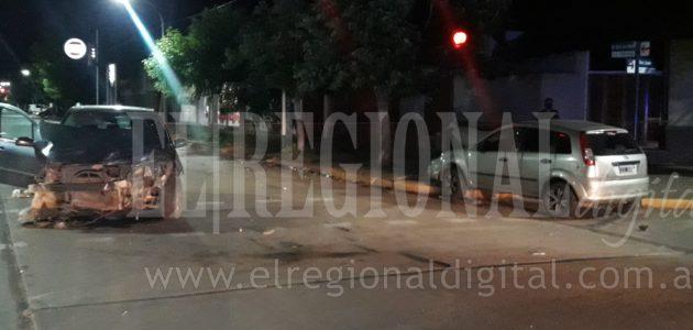 La colision se produjo en la interseccion de San Martin y San Juan